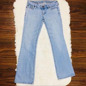 Bullhead Light Wash Flare Low Rise Jeans